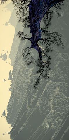 Love this style : Eyvind Earle (1916-2000) American Artist and Illustartor