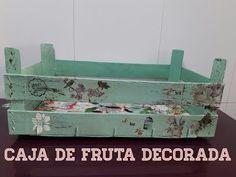 CAJA DE FRUTA DECORADA - YouTube