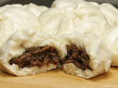 """Siopao was brought to the Philippines by Cantonese immigrants. The word """"siopao"""" came from its Chinese cousin,Cha siu baoorchar siu bao, which is similar to siopao though the filling in Cha siu baoorchar siu bao is usually barbequed pork, while siopao asado is stewed pork. This is a bit confu"""