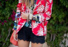 love the floral/black lace