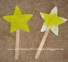 Star Craft, decorate with glitter pens. Can put their name on it as one of the family of Abraham.