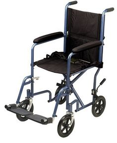 Drive Medical Economy Transport Chair 19 Inch Blue <3 Details on product can be viewed by clicking the VISIT button