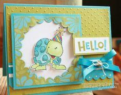 cute hello card