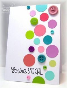Buttons and circles card