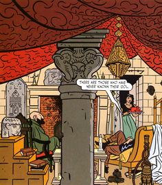 From Yves Chaland and Yann's La Comète de Carthage (The Comet of Carthage).