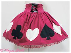 Trump Doll Skirt - Wine; Angelic Pretty USA; $181.60