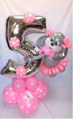 Sweet Number 5 Balloon Decoration Arrangements Centerpieces Decorations Twisting Balloons