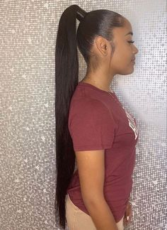 50 Ponytail Hairstyles We Can't Wait to Try Out - My New Hairstyles 50 Ponytail . - 50 Ponytail Hairstyles We Can't Wait to Try Out – My New Hairstyles 50 Ponytail Hairstyles We C - Hair Ponytail Styles, Long Ponytail Hairstyles, Long Ponytails, Sleek Ponytail, Baddie Hairstyles, Black Girls Hairstyles, Long Ponytail Weave, Ponytail Ideas, Simple Hairstyles