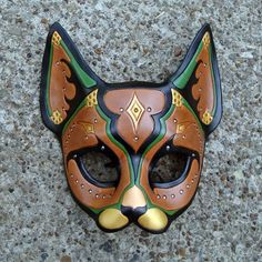 Persian Cat...Leather Mask by *merimask on deviantART