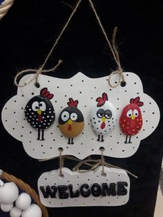 Stone Crafts, Rock Crafts, Diy Home Crafts, Diy Arts And Crafts, Hobbies And Crafts, Fun Crafts, Crafts For Kids, Pebble Painting, Pebble Art