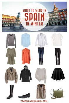 Traveling to Spain in the Winter? Use this comprehensive packing guide to help you pack stylishly light for destinations like Madrid, Barcelona and Girona. | travelfashiongirl.com