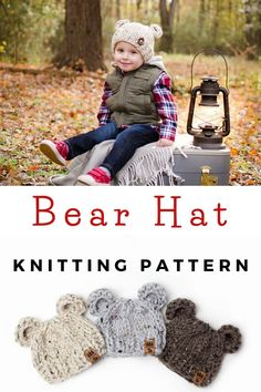 Halloween Knitting Patterns, Kids Knitting Patterns, Baby Hat Knitting Pattern, Baby Hats Knitting, Knitting For Kids, Easy Knitting, Baby Patterns, Knitting Projects, Knitted Hats