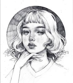 Sometimes I get messages asking me to teach you guys how to draw so I made a little tutorial swipey swipe.All jokes aside a only slightly better step by step is going up on my patreon lol. Pencil Art Drawings, Art Drawings Sketches, Cute Drawings, Pencil Drawing Tutorials, Art Tutorials, Portrait Paintings, Portrait Art, Self Portrait Drawing, Pretty Art