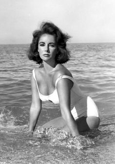 """Taylor. A scene from the move """"Suddenly Last Summer"""" with Montgomery Cliff and Kate Hepburn."""