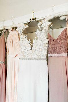 mauve bridesmaid dresses - http://ruffledblog.com/romantic-pacific-northwest-wedding-with-mauve-and-champagne