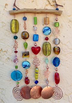 Glass Beaded Wind Chime Windchime Suncatcher by LTreatDesigns