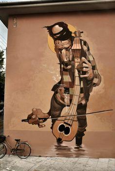 """Artist : Stamatis Laskos """"Warped Street Art Portraiture"""""""