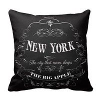 Wish   New York City New York-The City That Never Sleeps Throw pillows cover