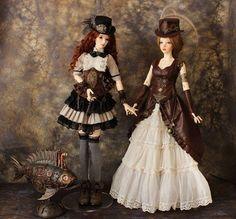 BJD steampunk costume full set Unique bjd Outfit Clothes Doll | Etsy Moda Steampunk, Steampunk Dolls, Steampunk Crafts, Gothic Dolls, Victorian Dolls, Victorian Steampunk, Steampunk Costume, Steampunk Clothing, Steampunk Fashion