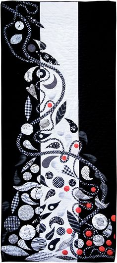 Avril Horn: Blite Whack and Red Allover. Contemporary Quilt (UK).