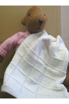 Free PDF Pattern - Knitted Baby Afghan