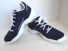 2XS Sport Shoe Navy White Size 7 Lace Up Padded Insoles Gripper Sole #2XSSports #Tennis