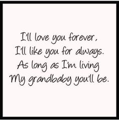 Kristian I'll love you forever. As long as I'm living, My grandbaby you'll be. ---I love you with all my heart Quotes About Grandchildren, Grandkids Quotes, Grandma Quotes, Grandma Memes, Grandma And Grandpa, Visual Statements, Over The Moon, Love You Forever, Grandparents