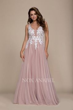 338f1e7381f Long Open Back Prom Dress Formal Evening Gown