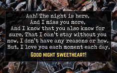 If you are looking for Good Night Poems for Her? then you are at right place. Browse our wonderful collection of Good Night Poems For Girlfriend. Good Night Poems, Good Night Text Messages, Good Night To You, Good Night Love Quotes, Love You Messages, Love Quotes For Him Romantic, I Miss You Text, Missing You Quotes For Him, Romantic Good Night Image