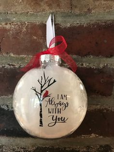 Cardinal ornaments clear plastic disc ornament Christmas tree ornaments plastic - The world's most private search engine Cardinal Ornaments, Diy Christmas Ornaments, Christmas Balls, Christmas Projects, Handmade Christmas, Holiday Crafts, Christmas Holidays, Christmas Decorations, Vinyl Ornaments