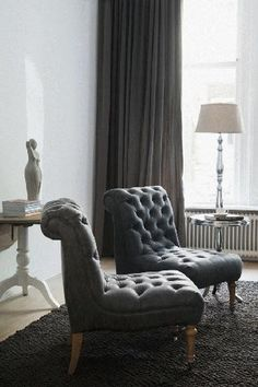 Hampton Square Lounge Chair Pellini ~ Riviera Maison