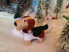Custom Listing for Denise One Beagle Wine Cork by DiVineWineCorks