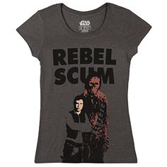 Star Wars Rebel Scum Chewbacca Movie Mighty Fine Juniors Babydoll TShirt Tee Small >>> Read more  at the image link.