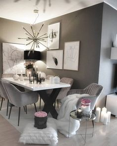 Werbung/Advertisement ( Markennennung) NOT sure about all of you, but candles 😍are definitely one of my decor obsessions. Dining Room Table Decor, Dining Room Design, Living Room Decor, Bedroom Decor, Living Area, Home Interior Design, Interior Decorating, Living Room Candles, Luxury Dining Room