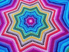 Crochet Star Blanket, Crochet Bedspread, Crochet Stars, Crochet Quilt, Crochet Mandala, Crochet Rug Patterns, Crochet Designs, Stitch Patterns, Diy Crafts Crochet