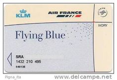 MEMBER CARD - FREQUENT FLYER AIRFRANCE KLM IVORY