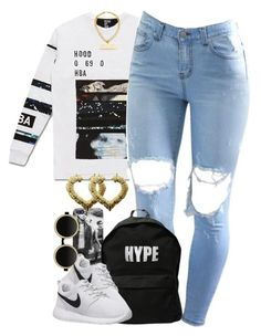Untitled #1305 by power-beauty on Polyvore featuring polyvore, fashion, style, Hood by Air, NIKE, ASAP, Chanel and Moscot