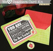 We Love Teachers Free Printable Card Kit by 100 directions