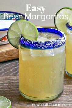 This easy recipe for beer margaritas has only a few ingredients and is the perfect drink for a party or to pair with Mexican food. Easy No Bake Desserts, Easy Dinner Recipes, Easy Meals, Dessert Recipes, Breakfast Recipes, Delicious Recipes, Vegan Recipes, Beer Recipes, Mexican Food Recipes