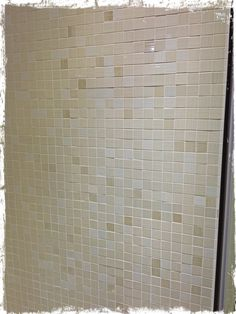 The new bathroom tiles.. the mosaic that will go on the wall along the side of the bath..