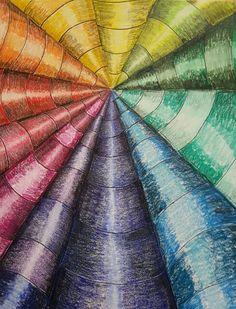 Op art colorwheel 7th grade