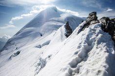 Allalinhorn (4027 m) mit Feegletscher, Valais, Switzerland