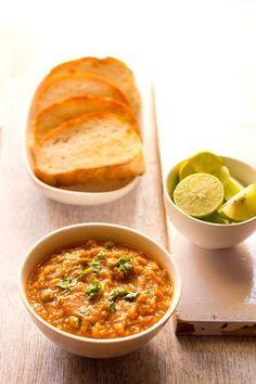 no onion no garlic pav bhaji recipe with step by step photos. pav bhaji recipe made without the use of onion and garlic. Jain Recipes, Aloo Recipes, Garlic Recipes, Indian Food Recipes, Snack Recipes, Cooking Recipes, Ethnic Recipes, Indian Snacks, Recipies
