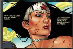 My pulse steadies and my heart rises as the blood of my enemy stains the sand beneath my boots. #wonderwoman