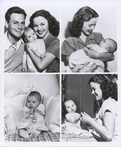 shirleytemleandherchildren | Shirley Temple and her first child, Linda Susan. 1940s.