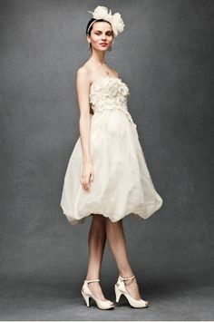 Wedding Dress Style Floral Artwork Dress