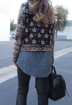 Sequin Jacket www.songofstyle.com