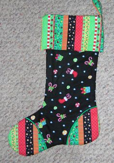 Quilted Christmas Stocking by HeartfeltStitchery on Etsy, $25.00 Quilted Christmas Stockings, Christmas Patchwork, Christmas Quilting, Chevron Christmas, Christmas Projects, Christmas Holidays, Christmas Tree, Christmas Ideas, Grey Quilt
