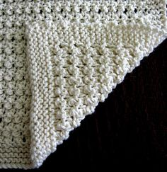 Open Work Baby Blanket by Trudi Brown free Ravelry download