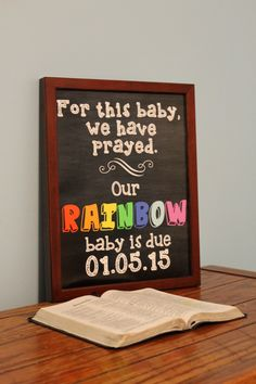 Rainbow Baby Announcement (Baby after Miscarriage) Chalkboard Print (Digital File) Rainbow Baby Announcement Baby after by DarlingSailorDesigns Rainbow Baby Announcement, New Baby Announcements, Pregnancy After Miscarriage, Baby Pregnancy, Nananana Batman, Chalkboard Print, Everything Baby, Baby Bumps, Baby Fever
